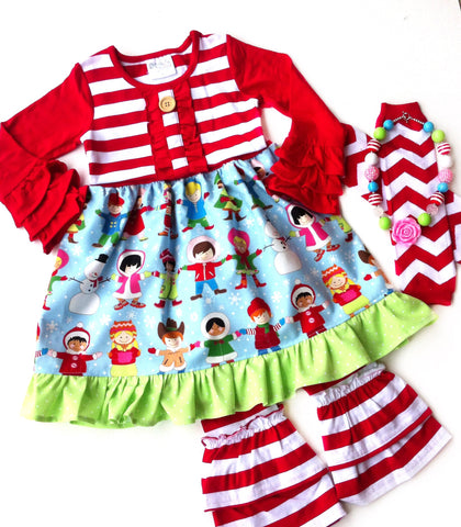 It's a Small World Christmas dress