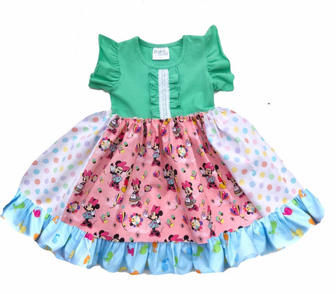 Magical Minnie Easter ruffle dress