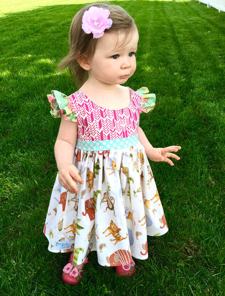 girl's animal Jungle dress
