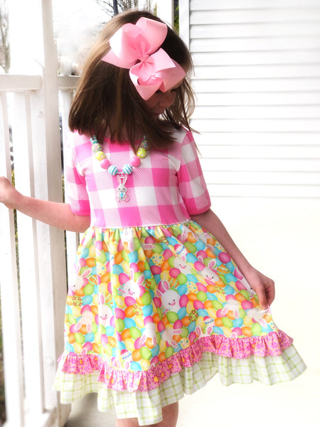Plaid Egg Hunt dress