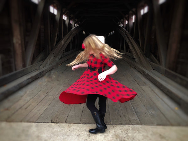 buffalo plaid christmas dress