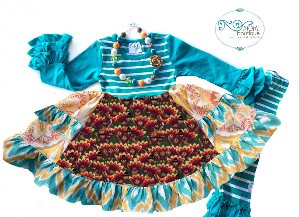 Turkey Trot Platinum party style Dress