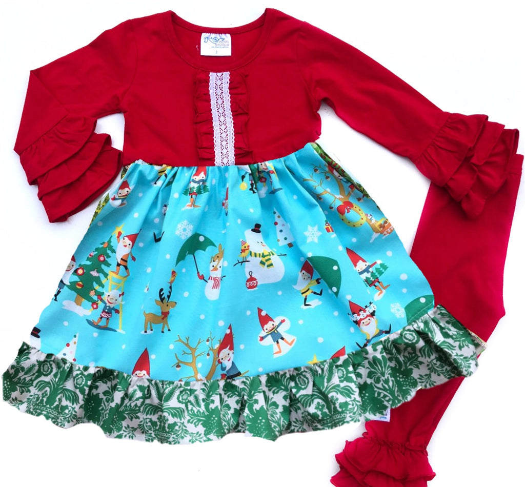 Elf village dress