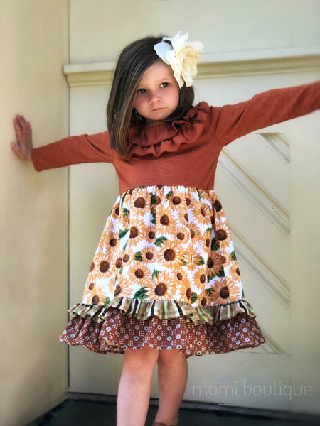 Autumn Sunflower Lola style Dress