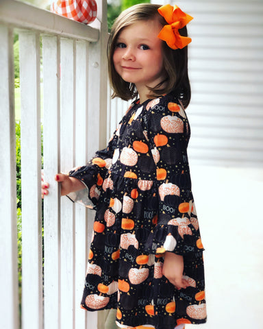 Halloween Harvest dress sz 12mo, 18mo, & 2