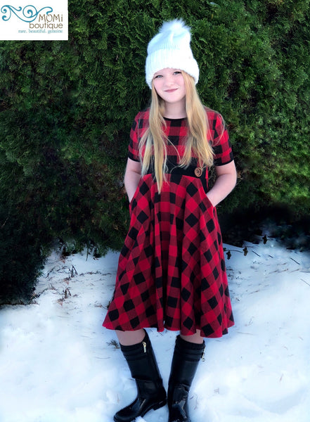 girls buffalo plaid dress
