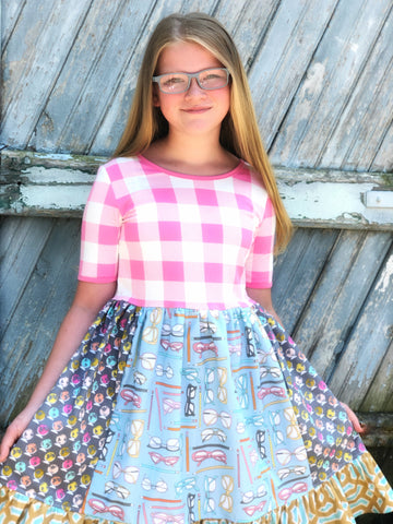 sz 12 Plaid School Day dress