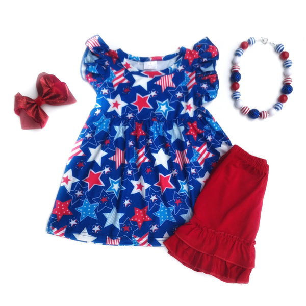 All American Star tunic & shorts