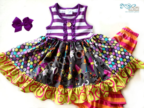 Halloween Purple Monster Mash dress