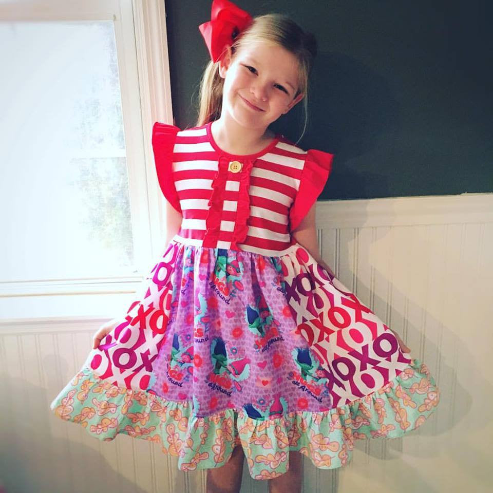 Trolls Valentine dress