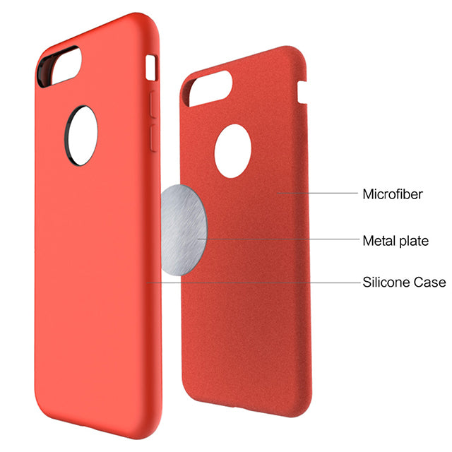 Rock Touch Series, Soft Silicone Case for iPhone 7, iPhone 7 Plus