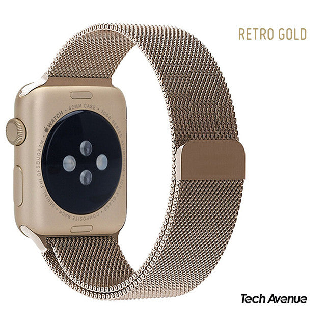 Retro Gold Milanese Watchband for Applewatch