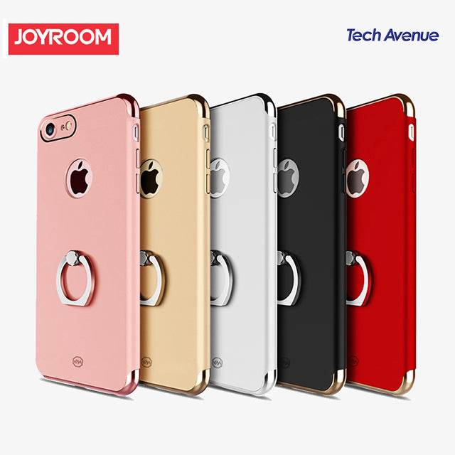 Joyroom Rubberized Electroplating Case with iRing - iPhone 7