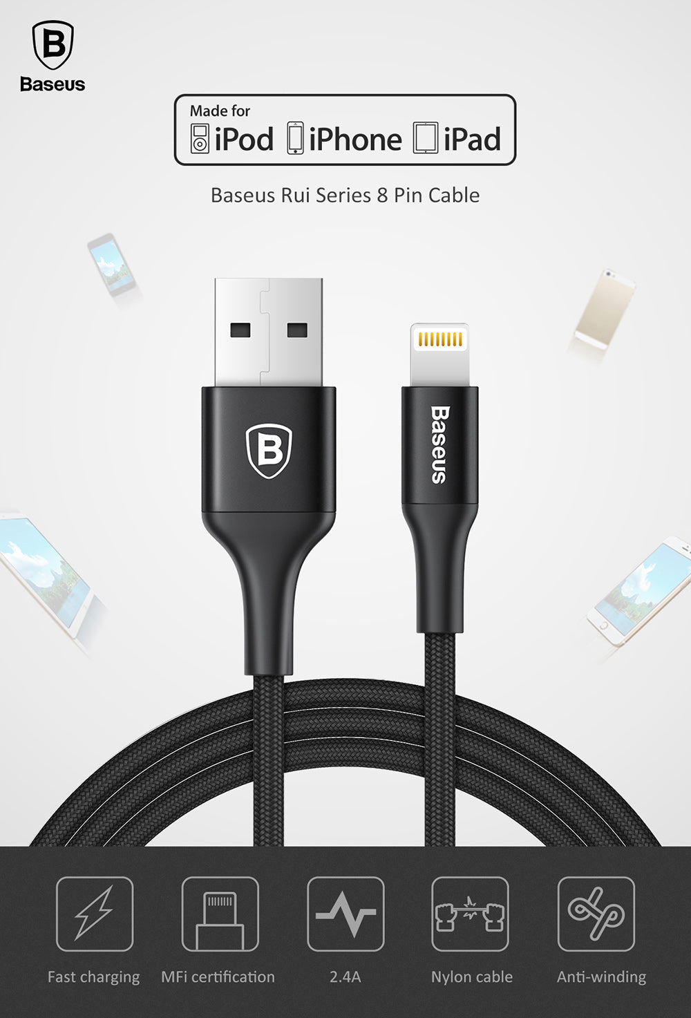Baseus Rui Series - MFI Certified Lightning Cable