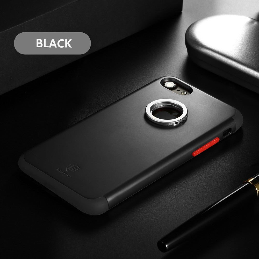the latest b0973 0c015 [MIDYEARSALE] Baseus Magnetic Ring Car Holder Case - iPhone 7/8