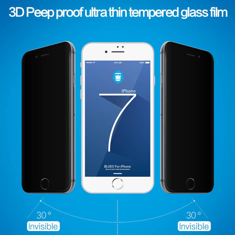 Blueo Privacy (Anti-Peep) Tempered Glass - iPhone 6/6S