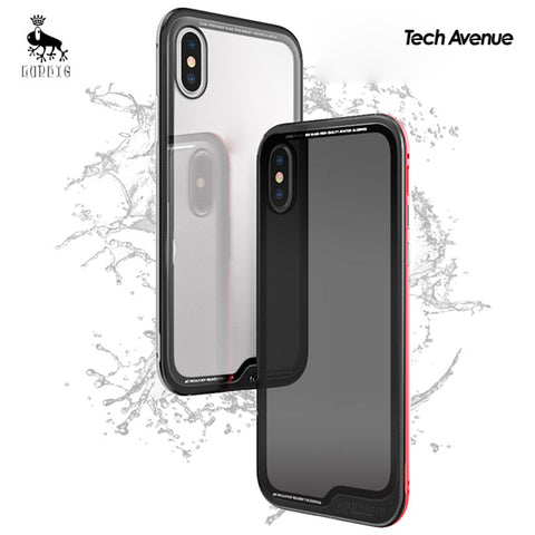 [New Product] Luphie Aluminum Transparent Glass Back Cover Case - iPhone X