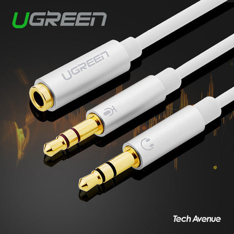 (Audio) - UGreen 3.5mm Female to 2 Male, Headset Splitter - Tech Avenue