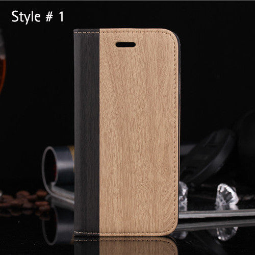 Wood Style Wallet Case - iPhone 6/6S