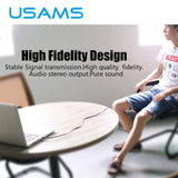 (Audio) - USAMS 3.5mm Male to Female Headphone Extension Cable - Tech Avenue
