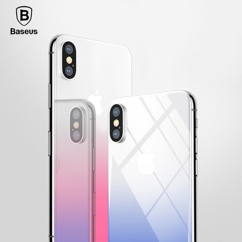 [New Product] Baseus Colored Transparent Back Tempered Glass - iPhone X
