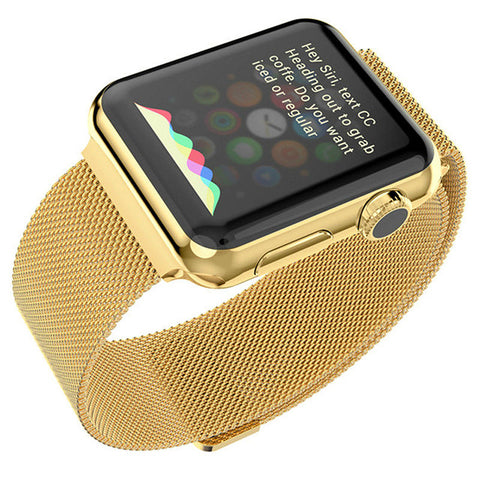 Gold Milanese Watchband for Applewatch
