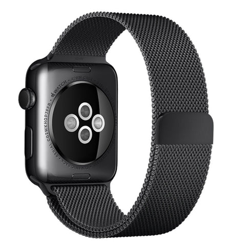 Black Milanese Watchband for Applewatch