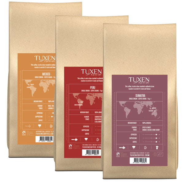Mixed Organic and Fairtrade Coffee Box (3 x 1000g)