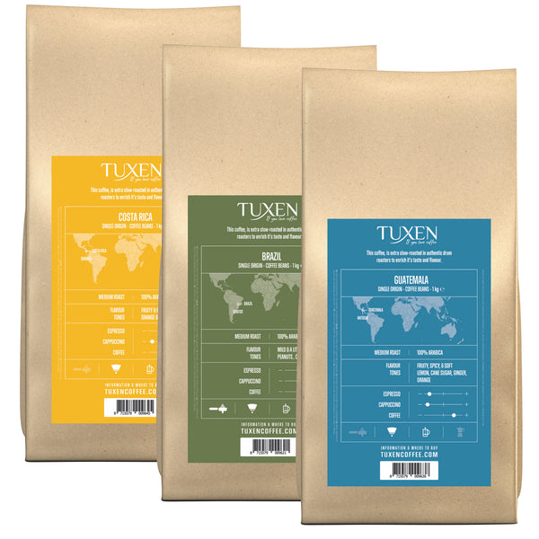 Mixed Single Organic Coffee Box (3 x 1000g)