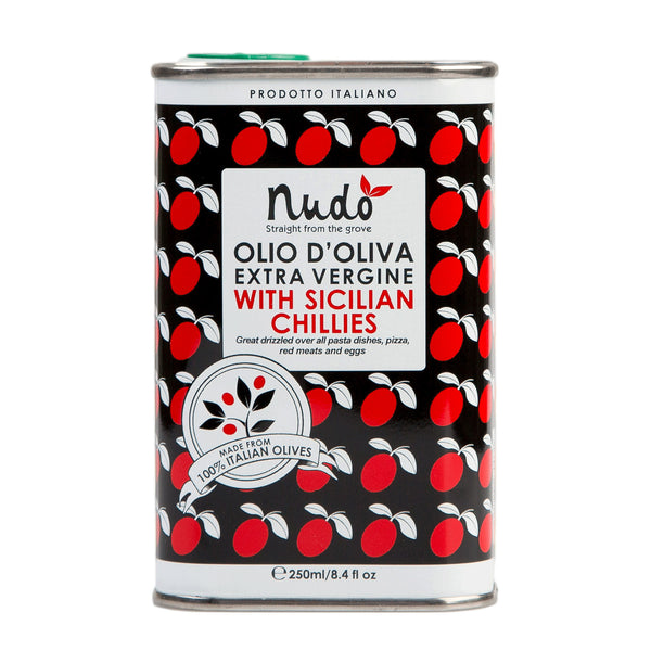 Extra Virgin Olive Oil, Sicilian Chillies (250 ml) , Olive Oil - Nudo, TuxenCoffee - 1