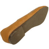 Womens Ballet Flats Pointy Toe Studded Toe Cap Tan