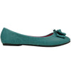 Womens Ballet Flats Layered Flat Bow Easy Slip On Blue