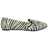 Womens Ballet Flats Zebra Print Casual Comfort Slip On Black