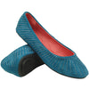 Womens Ballet Flats Suede Soft Flat Studded Slip On Comfort Shoes Blue