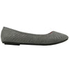 Womens Ballet Flats Suede Soft Flat Studded Slip On Comfort Shoes Gray