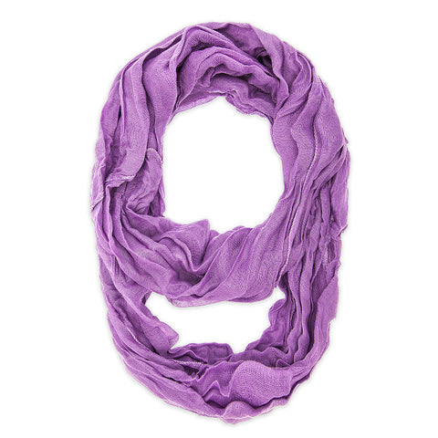 Womens Solid Infinity Scarf Purple