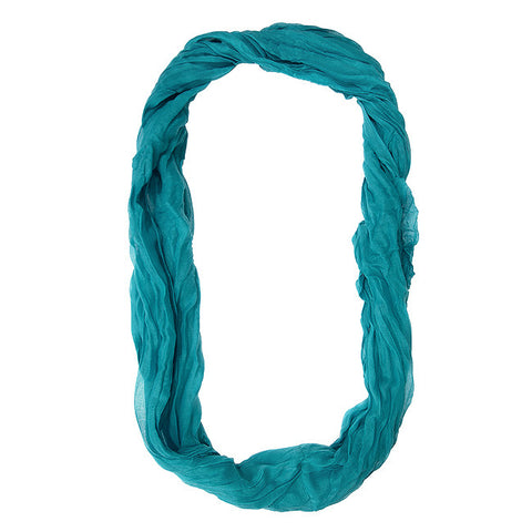 Womens Solid Infinity Scarf Turquoise