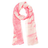 Womens Oblong Scarf Pink