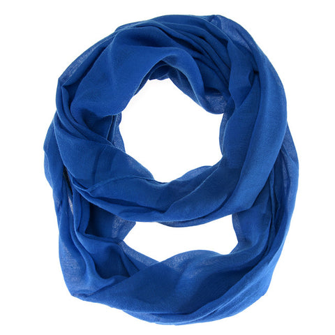 Womens Solid Infinity Scarf Marine