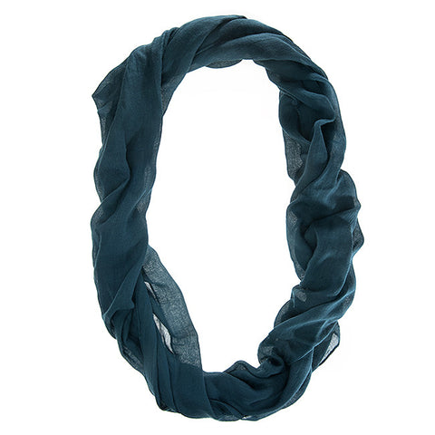Womens Solid Infinity Scarf Teal