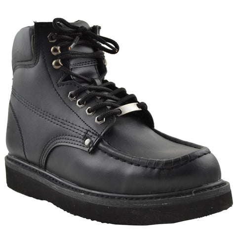 Mens Leather Work Shoes Black