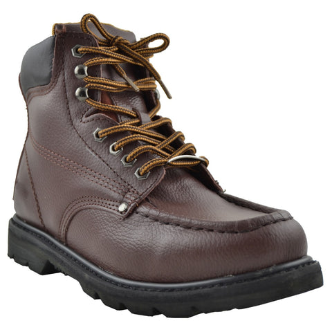 Mens Leather Work Shoes Brown