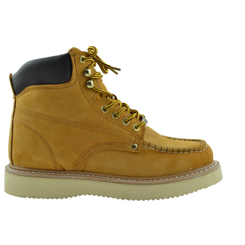 Mens Leather Work Boots Tan