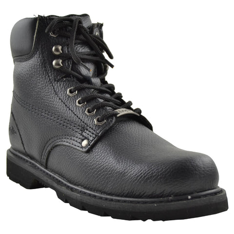 Mens Oil Resistant Work Boots Black