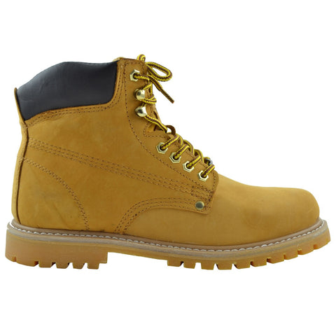 Mens Oil Resistant Work Boots Tan