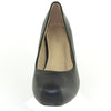 Womens Leather Platform Pumps Black