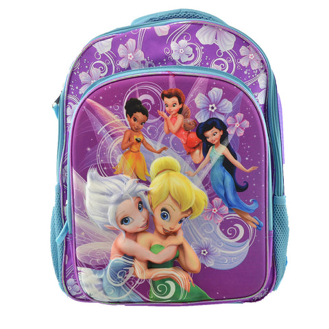 BackPacks Disney Fairies 3D  Padded Adjustable Straps Purple