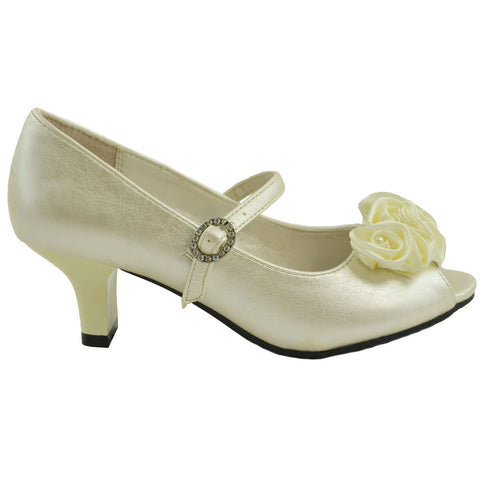 Toddler & Youth Peep Toe Pump