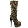 Strappy Stiletto Platform Mid Calf Boot