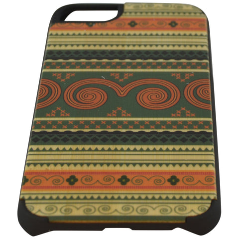 Wooden Case iPhone 6 Hard Bumper Colorful Circle Pa Mix